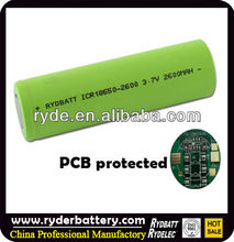 Flat Top IMR 18650 3100mah 3.7v Rechargeable Li-ion Battery