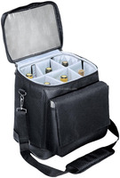 6 Bottle Packed Insulated Wine Cooler Tote Bag with Long Strap