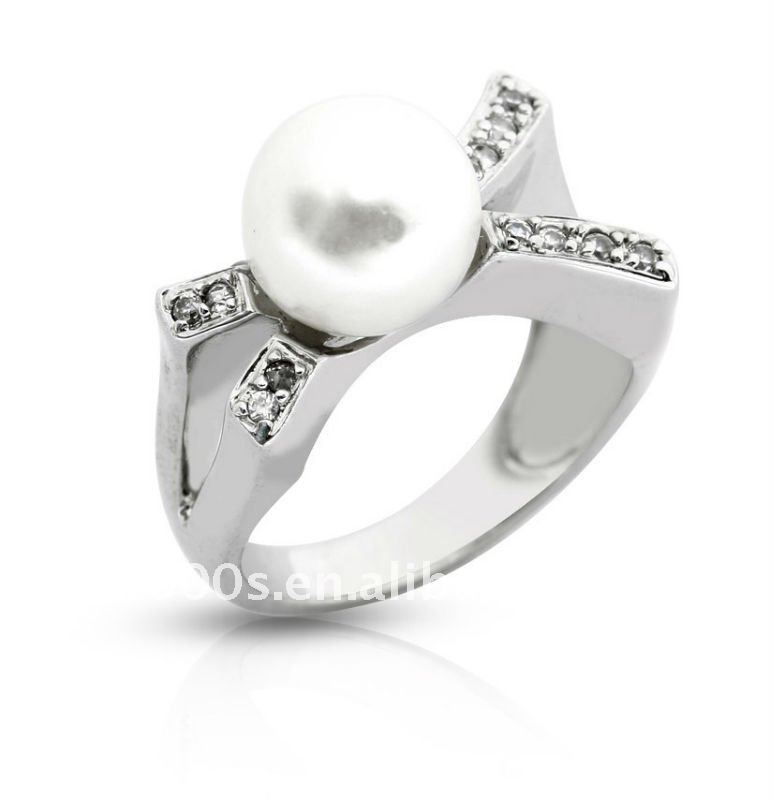 pearl ring designs diamonds