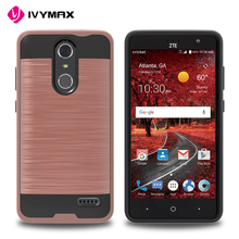 IVYMAX low price TPU PC metallic brushed material cell phone case for ZTE grand X4