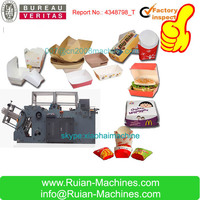 hot sale good quality burger box making machine price