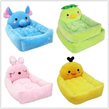 new design pets accesories plush animal shape luxury dog bed
