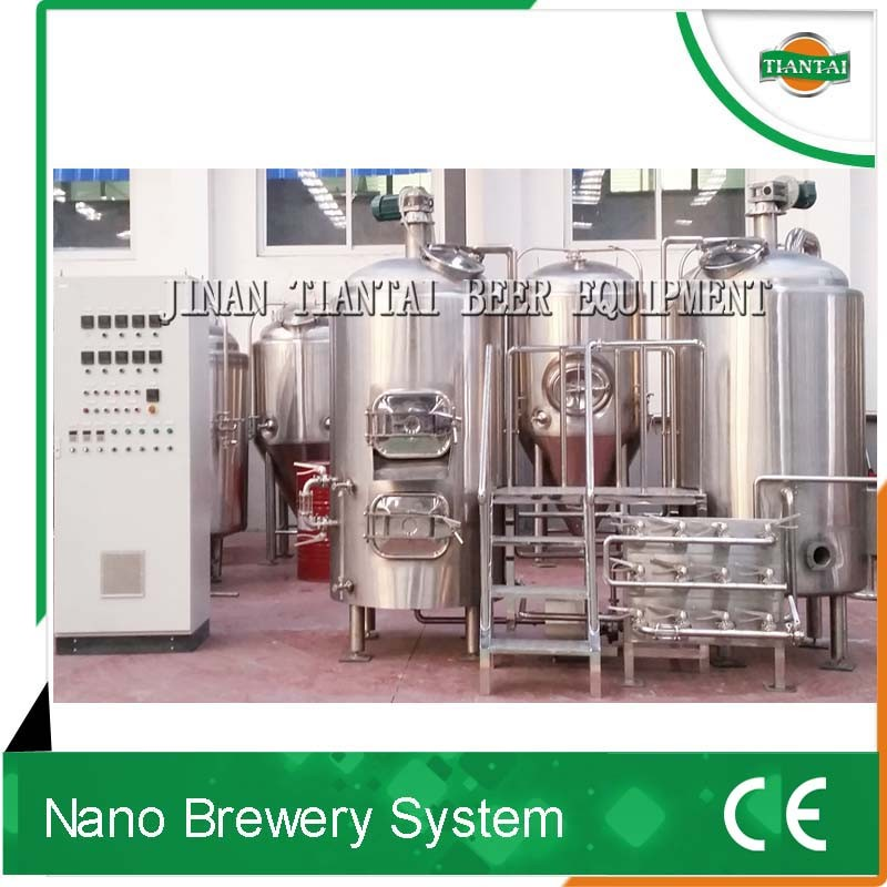 full automatic alcohol beer production equipment, 8HL brewing system