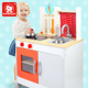 Top bright kids wooden Pretend play classic kitchen set toy 120323