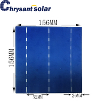 156*156mm 6-inch High Efficiency 18% Polycrystalline Silicon Solar cell with 3 Bus-Bars for sale