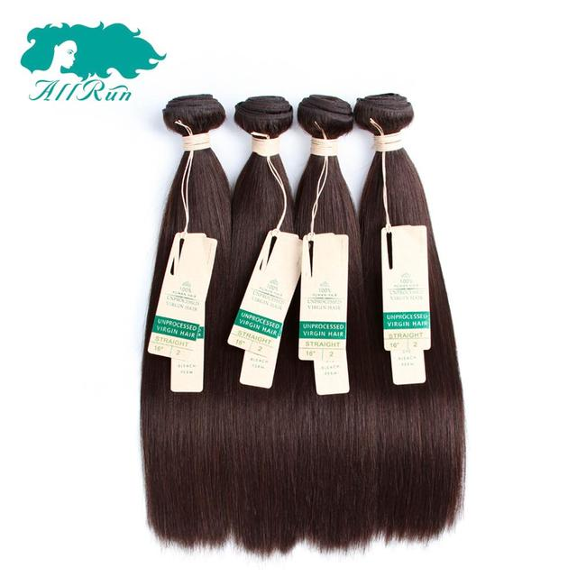Peruvian hair straight 2#color hair 7a human hair weave