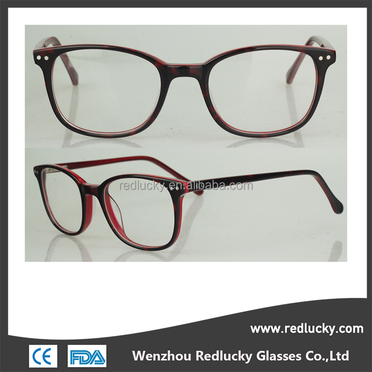 Black and other colors are optional wide temple metal optical frames