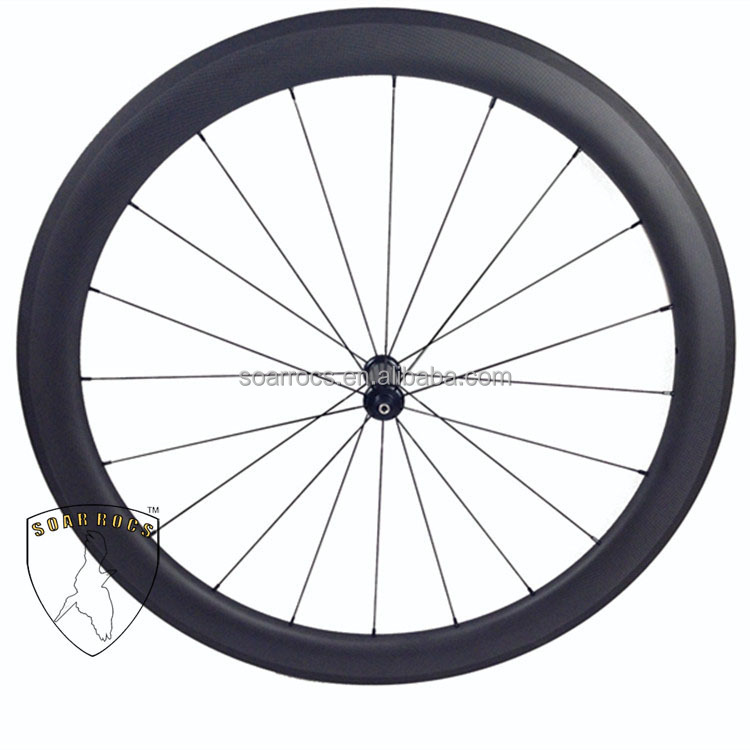 SoarRocs super light carbon wheelset 50mm tubular U shape 25mm width basalt brake surface carbon fiber road bike wheels