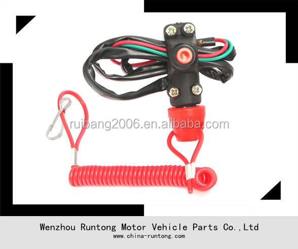 ATV RACING ENGINE STOP TETHER OPEN KILL SWITCH MOTORCYCLE ATV MX SNOWMOBILE