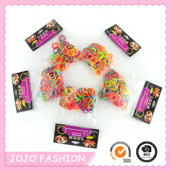 2014 wholesale box packed cheap DIY silicone loom band charms