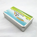 Rectangular pharmaceutical packaging tin boxes with hinged