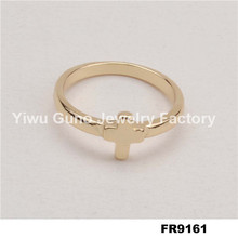 Fashion jewelry cross ring tin alloy wedding ring wonder woman ring