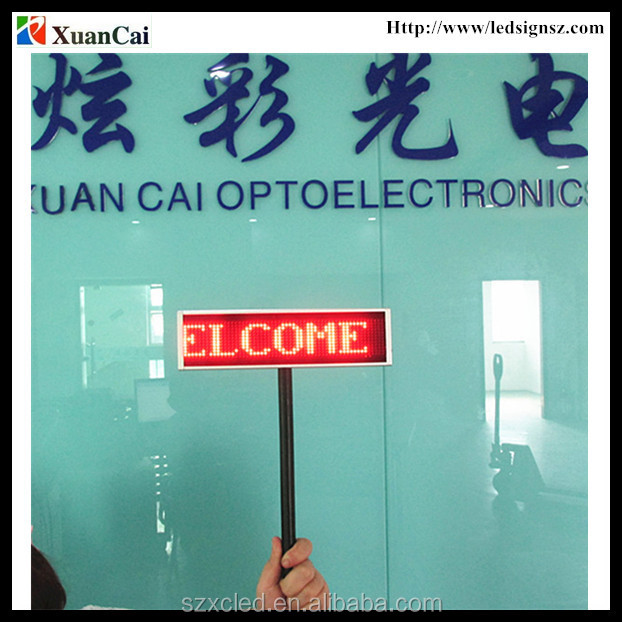 P3.66-12x56 Air port, Bus/railway station, Concert use Handheld LED Paging board/Placard display