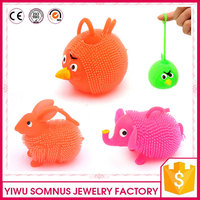 sotf plastic / pvc flexible laser bird / elephant / rabbit toys for kids