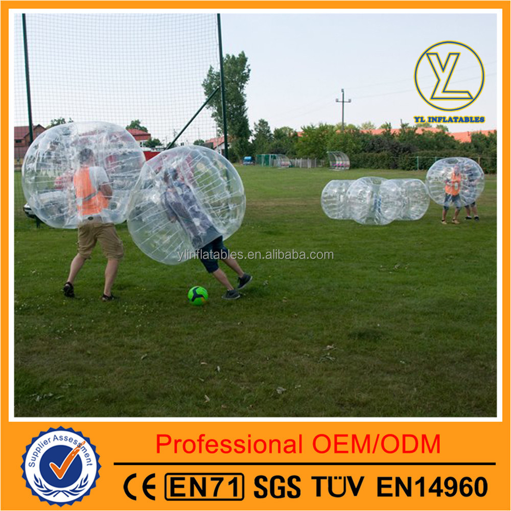 Bottom price body zorb ball for sale used inflatable buddy bumper ball