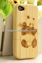 Genuine Panda bamboo phone case For iPhone 4 4G