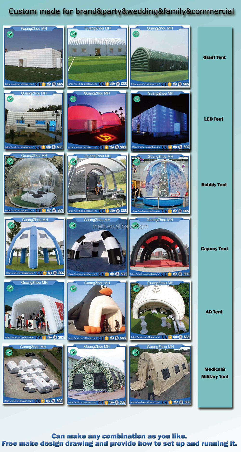 6x5x4meter low price beautiful inflatable party tent for sale