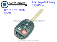 Discount Keyless Replacement 4 Button Automotive Remote Key For Toyota Camry 2012 2013 2014 G Chip 313.8Mhz