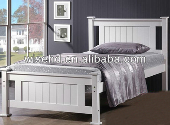 (W-B-0092) modern wood bed home furniture