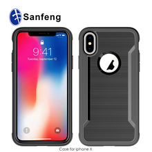 PC+TPU Hybrid Combo Shockproof Protective Shell for Iphone X Defense Shield Case