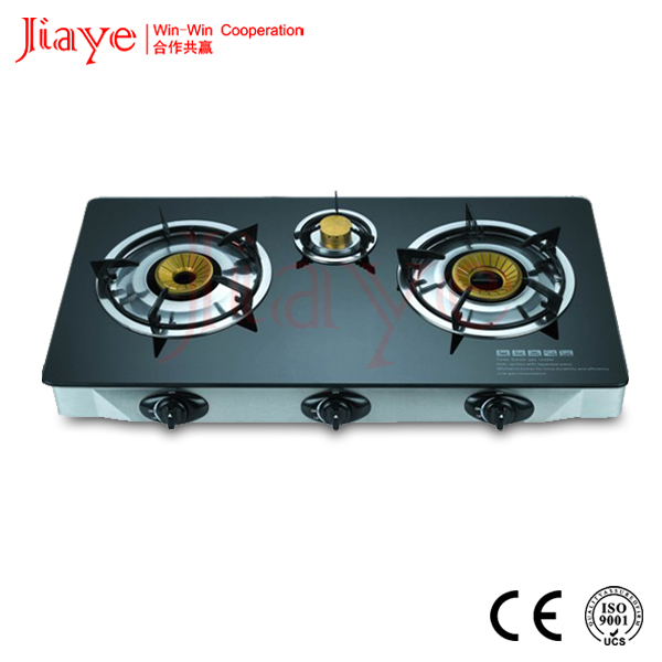 3 burner glass top gas cooker /table gas stove spare parts gas stove 3 burner
