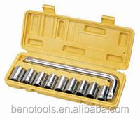 "Tire Changing 1/2"" Sockets Set,10pcs High Quality Car Repair Combination Hand tool Kit"