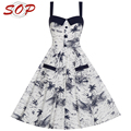 Summer women new style boutique clothing latest sexy printing party dress