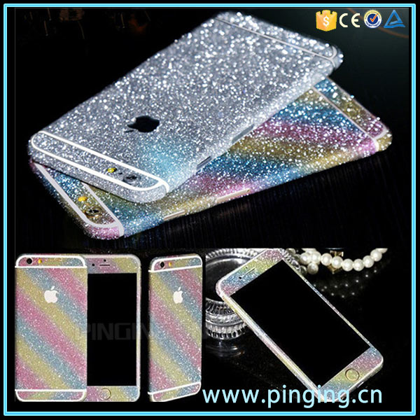 Bling Full Body Wrap Decal Glitter Sticker Skin Protector Case Cover For Iphone 6 6S 6Plus 6SPlus
