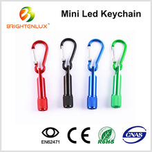 Cheap Custom Made Metal led Keychain Light in Bulk, Promotional Carabiner Mini led Keychain Flashlight Wholesale