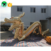 10m Monster Giant Golden Inflatable Dragon Replica Customized Event Dragon A805
