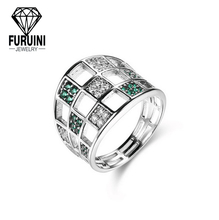 Fashion 925 Silver Jewlry Big Ring Perfect Design Wedding Ring For Women