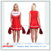 Sample cheerleader uniform cheer outfits costume top skirt suits, pro team club girls cheer sports wear