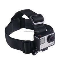 elastic adjustable head strap for go pro heros 4 camera accessories