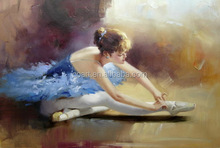 hot sales beautiful dancing girl oil painting on canvas