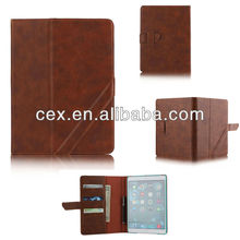 For ipad air Luxury Crazy Horse Leather Case with wallet and card slot