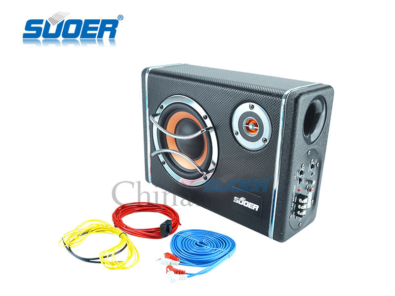 Suoer 6 inch 12v car audio subwoofer built-in amplifier
