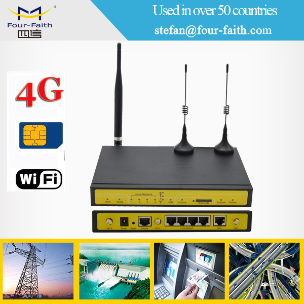 industrial 3g wifi router with sim card slot lan