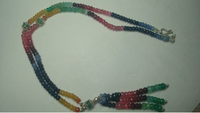 Beads,Multi Precious stone beads,Natural Ruby,Sapphire,Emerald faceted beads