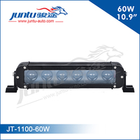 Juntu 12v 10.9 inch 60w off road led bull light bar with projector lens for Jeep, suv, pickup trucks