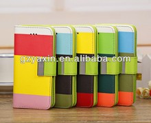 Universal Smart Phone Wallet Style Leather Case For Iphone 5c,China Factory Price