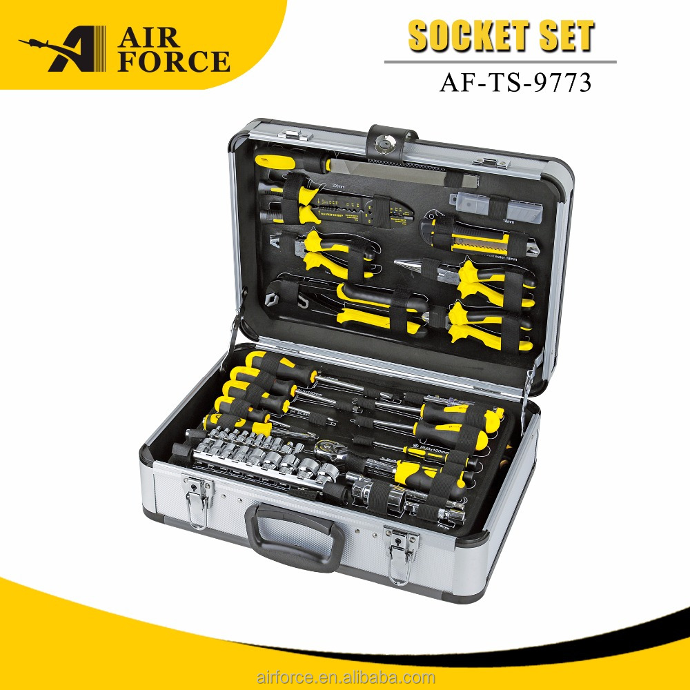 101 pcs high quality Aluminum case hand tool set