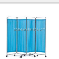 Hospital 2,3,4 fold medical bed room divider/hospital bed partition/bed screen