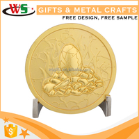 2016 New Products Wholesale Price Promotion Cheap Custom Challenge Coin,Eagle Gold 3D Coin China