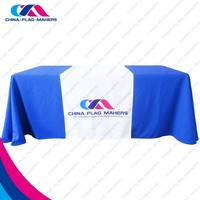 High Quality Custom Company Logo 6ft or 8ft Table Cloth
