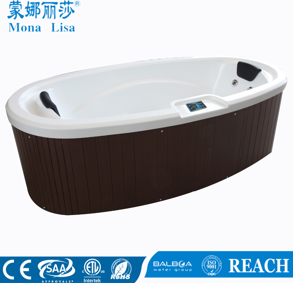 Romantic Boat Shape Two People Use Outdoor Whirlpool Massage Bathtub Hot Tub M-3360