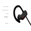 """IPX7 waterproof Sport Bluetooth Headphone Wireless Bluetooth Headset Earbuds From SENSO Supplier--RU9 """