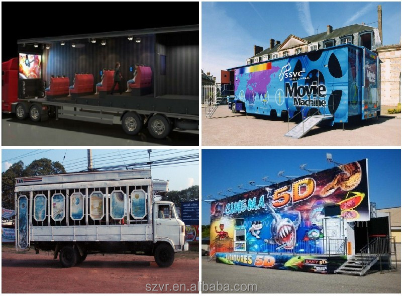 truck mobile 5D cinema theater 5D kino 4D simulation cinema