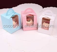 custom take away paper cupcake box