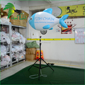 Charming Outdoor Display Inflatable Tripod Fish / Advertising LED Lighted Decor Standing Fish Model
