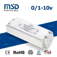 ce saa rohs etl approved 0-10v pwm dimming led strip driver 45w dc 12v 24v switching power supply